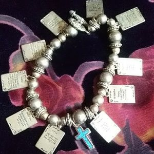 Vintage handmade 10 commandments charm bracelet